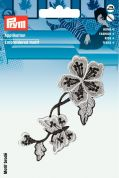 Prym Self Adhesive Embroidered Motif Applique Black Flower Tendril
