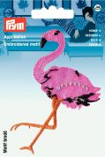 Prym Iron or Sew On Fabric Motif Applique Flamingo
