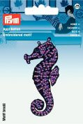 Prym Iron or Sew On Fabric Motif Applique Sea Horse