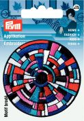 Prym Iron or Sew On Fabric Motif Applique Multicoloured Circles