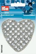 Prym Iron On Embroidered Motif Applique Glamour Heart Transfer