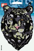 Prym Iron On Embroidered Motif Applique Camouflaged Tigers Head