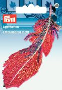 Prym Iron On Feather Applique Motif  Red & Multicoloured