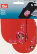 Prym Iron On Childrens Patch Motifs Girls & Roses  Multicoloured