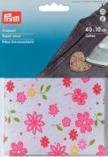 Prym Iron On Cotton Repair Sheet Flowers  Pink/Multicoloured