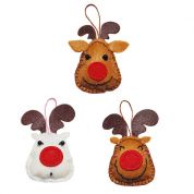 Kleiber Christmas Reindeer Decoration Craft Felt Sewing Kit