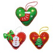 Kleiber Christmas Heart Decoration Craft Felt Sewing Kit