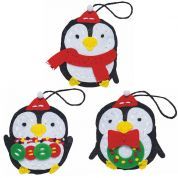 Kleiber Christmas Penguin Decoration Craft Felt Sewing Kit