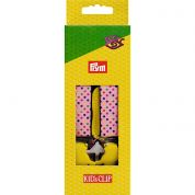 25mm Prym Childrens Clip Braces 70cm  Pink/Multi