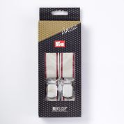 30mm Prym Adult Clip Braces 1.25m  Silver Grey & Bordeaux