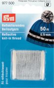 0.5mm Prym Knitting in Reflective Thread 50m  Silver