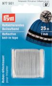 1mm Prym Knitting in Reflective Tape 25m  Silver