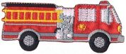 Simplicity Large Fire Truck Motif Applique