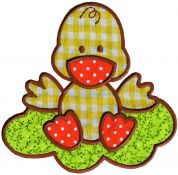 Simplicity Large Gingham Duck Motif Applique