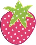 Simplicity Large Strawberry Motif Applique
