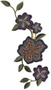 Simplicity Large Embroidered Flowers Motif Applique