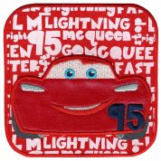 Simplicity Disney Cars McQueen Words Motif Applique