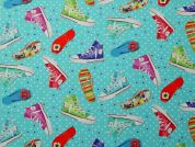 100% Cotton Fabric  Turquoise
