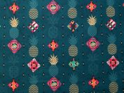 100% Cotton Fabric  Teal