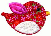 Simplicity Patterned Bird Motif Applique