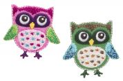 Simplicity Owls with Polka Dots Motif Applique