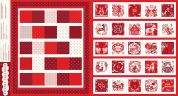 Dashwood Studio Cotton Poplin Fabric Panel  Red