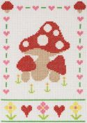 Anchor Cross Stitch Kit Mushrooms
