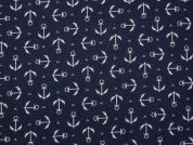 PUL Coated Jersey Fabric  Navy
