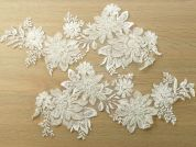 Beaded Lace Appliques  Ivory