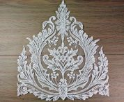 Beaded & Embroidered Couture Bridal Lace Appliques  Ivory