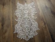 Large Beaded Couture Bridal Lace Appliques  Ivory