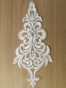 Beaded & Sequin Couture Bridal Lace Appliques  Ivory