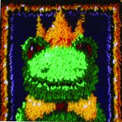Caron WonderArt Latch Hook Rug Kit Frog Prince
