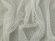 Arezzo Patterned Soft Tulle Net Fabric  Ivory