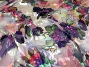 John Kaldor Burn Out Silk Chiffon Fabric  Multicoloured
