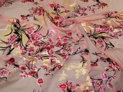 John Kaldor Burn Out Chiffon Fabric  Pink