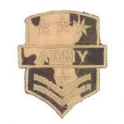 Army Patch Motif  Brown