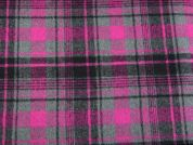 Polyester & Wool Plaid Check Coating Dress Fabric