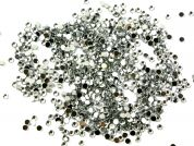 Bulk Bag Acrylic Stick On Jewel Rhinestone Diamantes  Silver Clear