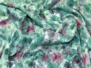 Floral Baroque Stretch Jacquard Dress Fabric  Green