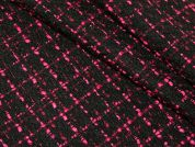 Woven Coating Dress Fabric  Black & Pink