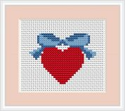 Luca-S Counted Cross Stitch Kit Heart