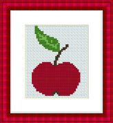 Luca-S Counted Cross Stitch Kit Apple