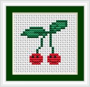 Luca-S Counted Cross Stitch Kit Cherries I