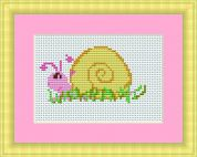Luca-S Counted Cross Stitch Kit Snail