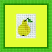 Luca-S Counted Cross Stitch Kit Pear