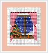 Luca-S Counted Cross Stitch Kit New Year Window