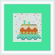 Luca-S Counted Cross Stitch Kit Birthday Cake