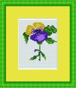 Luca-S Counted Cross Stitch Kit Violet