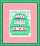 Luca-S Counted Cross Stitch Kit Wedding Cake